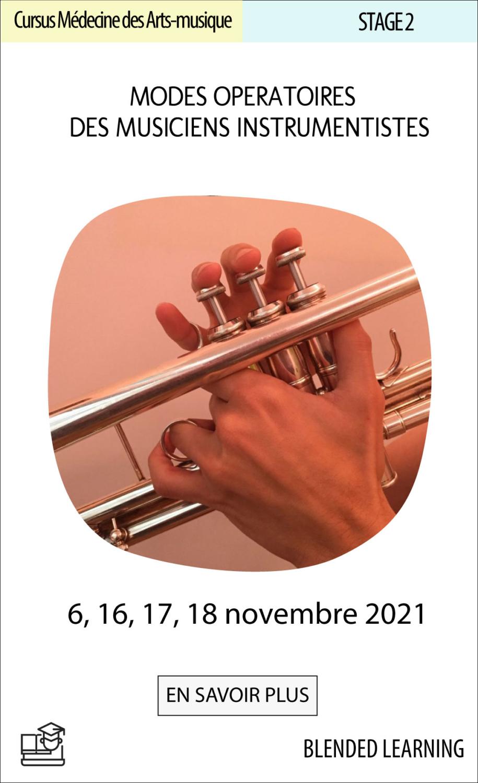 Modes opératoires des musiciens instrumentistes : Education physique préventive pour les musiciens